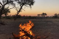 Sunset braai, Cawston Wildlife Estate - Zimbabwe
